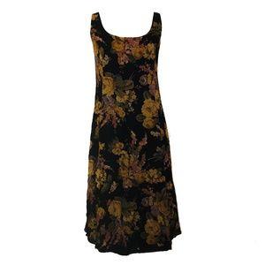 Ralph Lauren Floral 100% Silk Sleeveless Dress